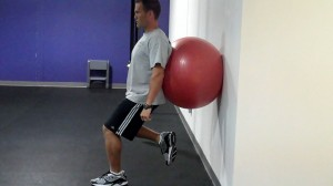 Shallow Single Leg Wall Sit