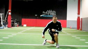 Forward Crossing Lunge (onto right)